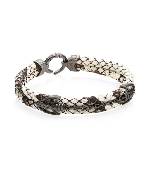 Stinghd | White Black Platinum Python Bracelet | Lyst