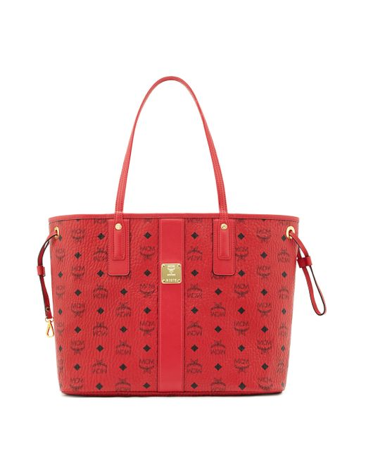 mcm liz medium reversible visetos shopper tote in red save 12 lyst. Black Bedroom Furniture Sets. Home Design Ideas