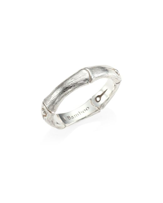 John Hardy | Metallic Bamboo Sterling Silver Band Ring | Lyst