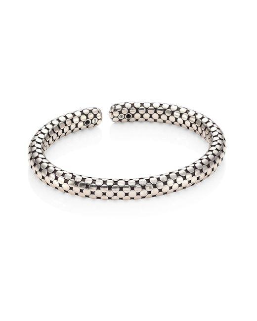 John Hardy | Metallic Dot Sterling Silver Slim Flex Cuff | Lyst