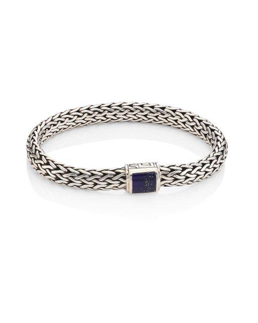 John Hardy | Metallic Classic Chain Lapiz Lazuli & Sterling Silver Bracelet | Lyst