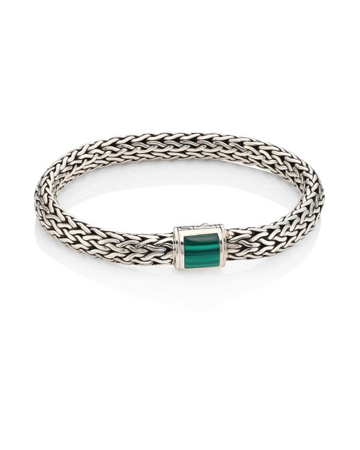 John Hardy | Multicolor Batu Classic Chain Medium Malachite & Sterling Silver Bracelet | Lyst