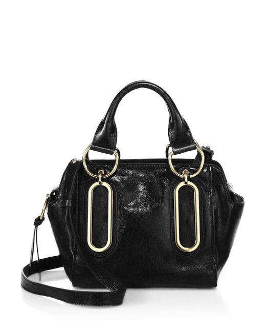 See By Chloé | Black Hazel Leather Satchel | Lyst