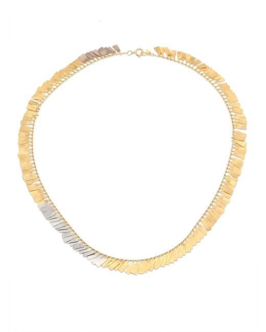Sia Taylor   Metallic Fringe 18k Yellow & White Gold Necklace   Lyst