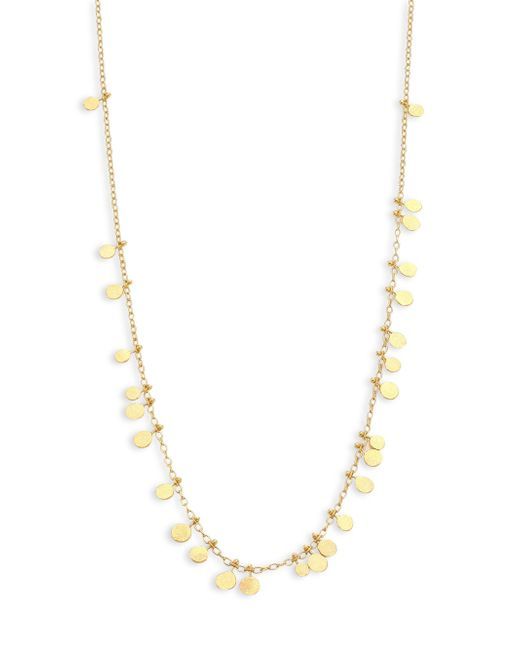 Sia Taylor | Metallic Dots 18k Yellow Gold Necklace | Lyst