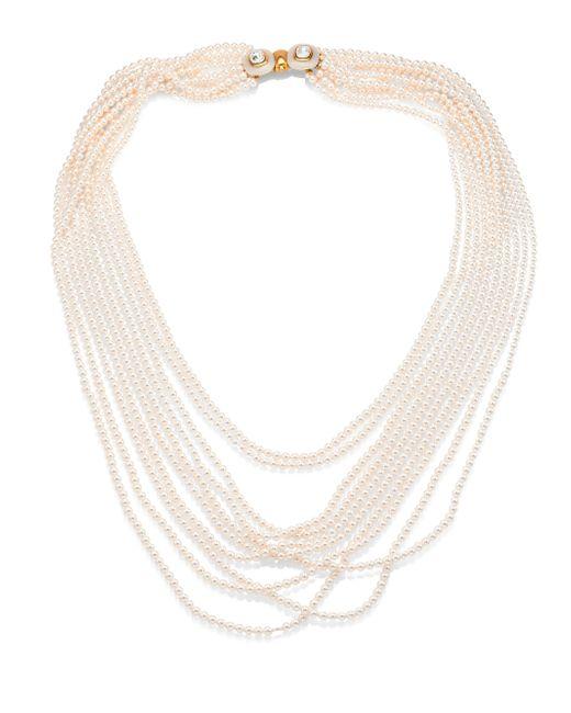 Oscar de la Renta | White Multi Strand Faux-pearl Necklace | Lyst