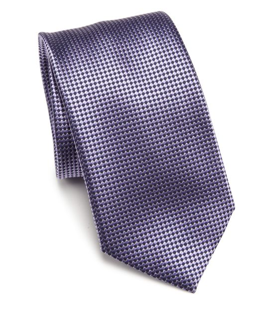 Saks Fifth Avenue | Blue Diamond Neat Silk Tie & Gift Box for Men | Lyst