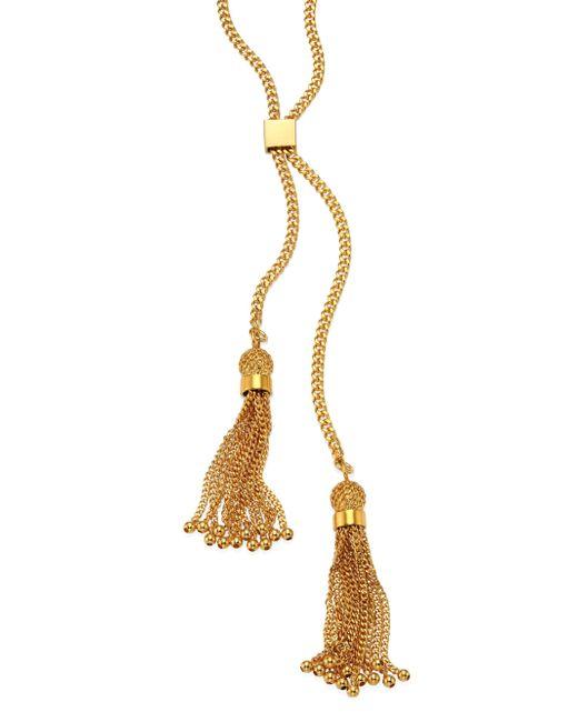 Chloé | Metallic Lynn Long Chain Tassel Necklace | Lyst