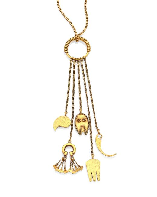 Chloé | Metallic Lyzabeth Charm Necklace | Lyst