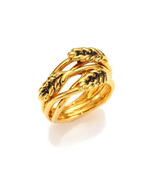 Aurelie Bidermann   Metallic Wheat Ring/goldtone   Lyst