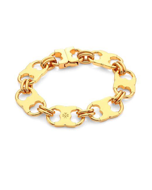 Tory burch Gemini Link Bracelet in Metallic | Lyst