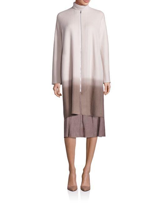 Lafayette 148 New York | Blue Barbara Cashmere Ombre Coat | Lyst