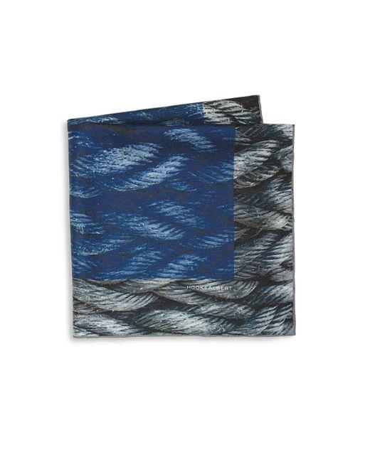 Hook + Albert   Blue Mystic Rope Sling Silk Pocket Square   Lyst