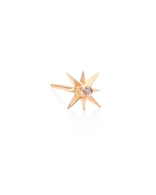 Sydney Evan | Metallic Small Sunburst Diamond & 14k Rose Gold Single Stud Earring | Lyst