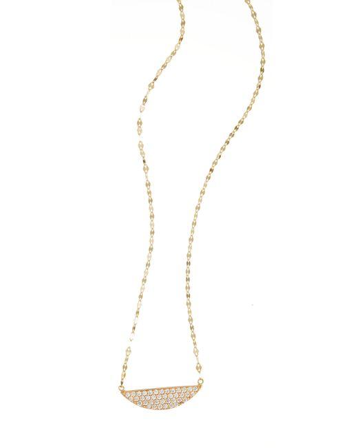 Lana Jewelry   Metallic Eclipse Diamond & 14k Yellow Gold Pendant Necklace   Lyst