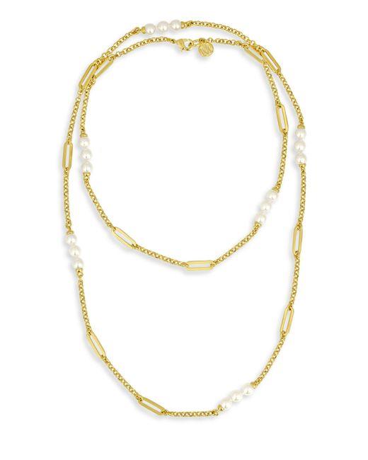 Majorica   Metallic Modern 6mm Organic Pearl Necklace   Lyst