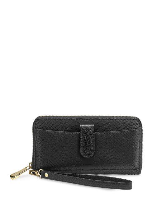 Gigi New York | Black Leather Phone Wallet | Lyst