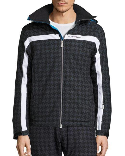 J.Lindeberg | Multicolor Sitkin Waterproof Houndstooth Jacket for Men | Lyst