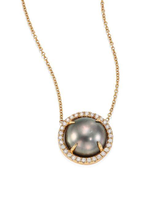Jordan Alexander | Metallic 12mm-15mm Grey Baroque Tahitian Freshwater Pearl & Diamond Strand Necklace/36 | Lyst