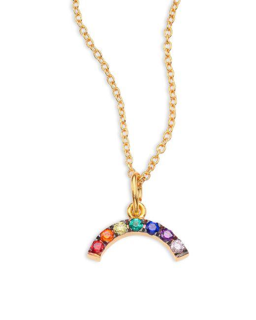 Ileana Makri | Metallic Mini Rainbow Crystal Pendant Necklace | Lyst