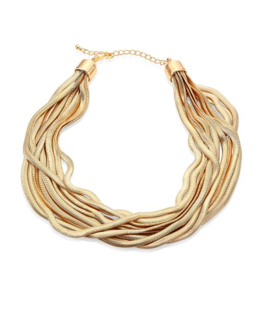 Kenneth Jay Lane | Metallic 10-row Snake Chain Necklace | Lyst