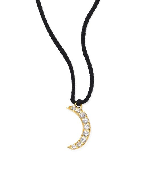 Elizabeth and James | Metallic Selene White Topaz Moon Necklace | Lyst