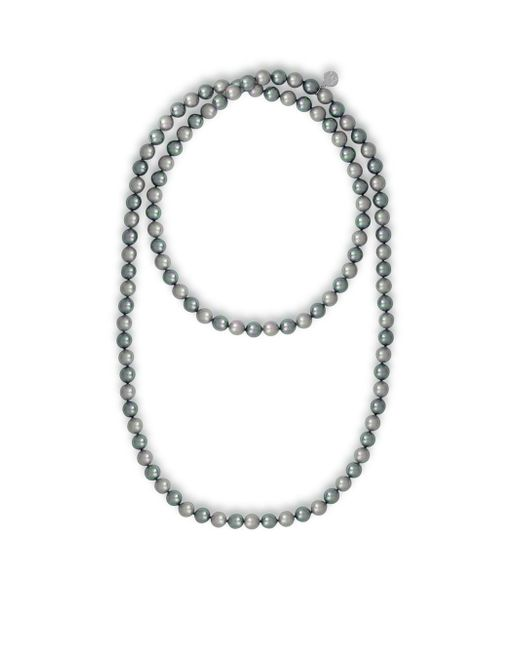 Majorica | Metallic Endless 8mm Organic Pearl Strand Necklace/48 | Lyst