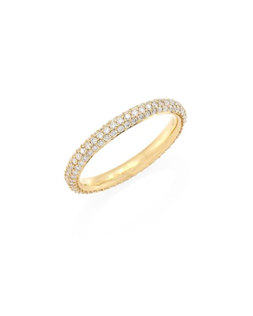 Kwiat | Metallic ??oonlight Diamond & 18k Yellow Gold Band Ring | Lyst