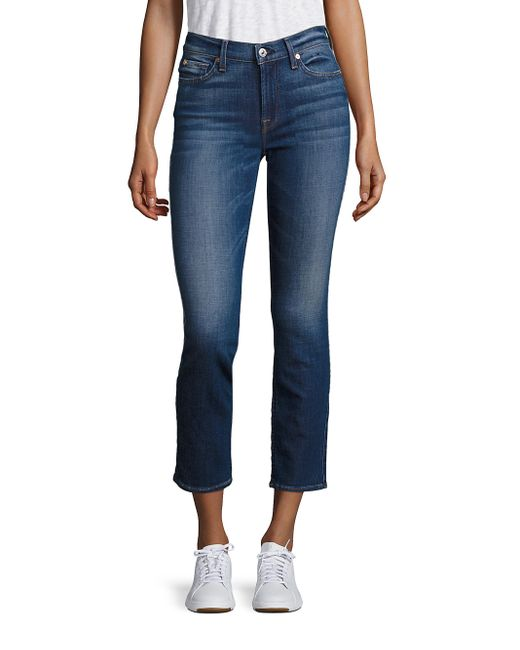7 for all mankind roxanne cigarette skinny ankle jeans in. Black Bedroom Furniture Sets. Home Design Ideas