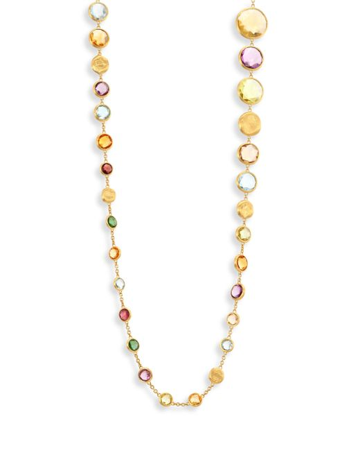 Marco Bicego | Metallic Jaipur Semi-precious Multi-stone & 18k Yellow Gold Necklace/36 | Lyst
