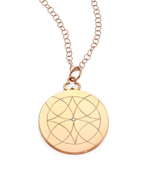 Devon Woodhill | Metallic Lucky Diamond & 18k Rose Gold Locket Necklace | Lyst