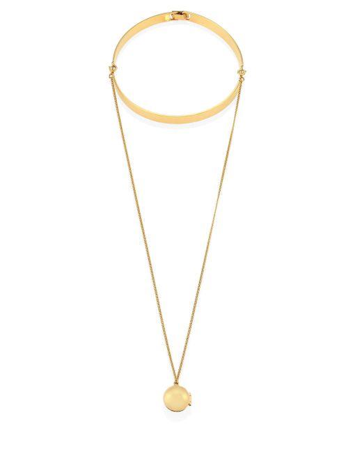 Lele Sadoughi   Metallic Keepsake Choker & Pendant Necklace   Lyst
