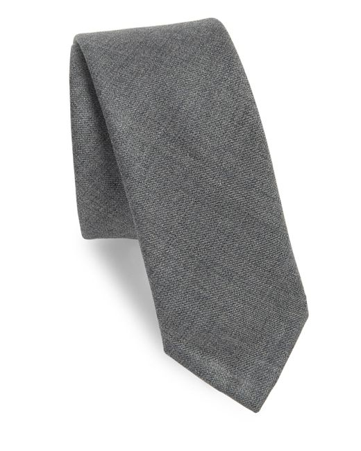 Thom Browne | Gray Classic Textured Wool Tie for Men | Lyst