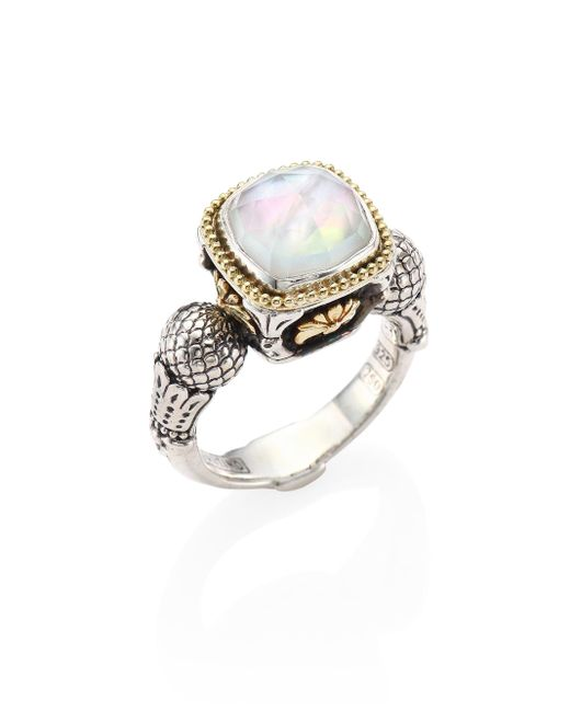 Konstantino | Multicolor Nemesis Mother-of-pearl Doublet Ring | Lyst