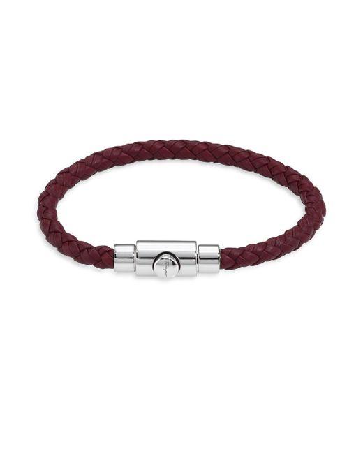 Ferragamo | Brown Braided Bracelet | Lyst