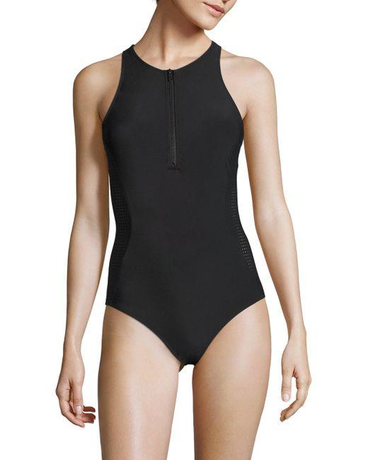 Flagpole Swim Stella One Piece Swimsuit In Black Lyst