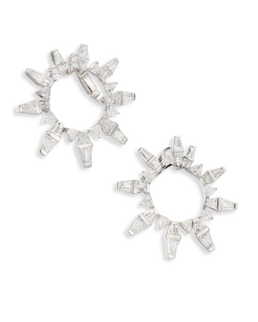 Nikos Koulis | Metallic Oui Diamond & 18k White Gold Hoop Earrings/3.5 | Lyst