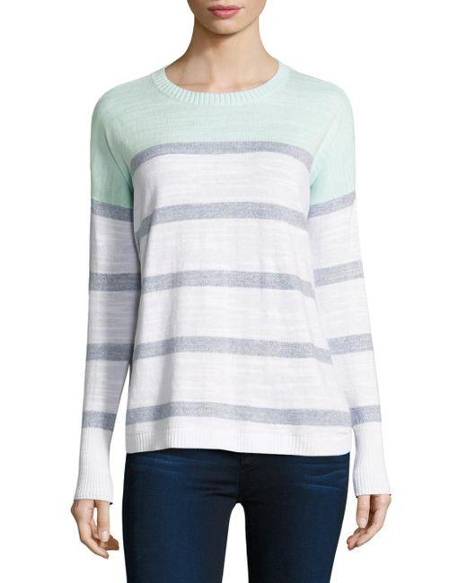 Vineyard Vines | Blue Colorblock Striped Cotton Sweater | Lyst