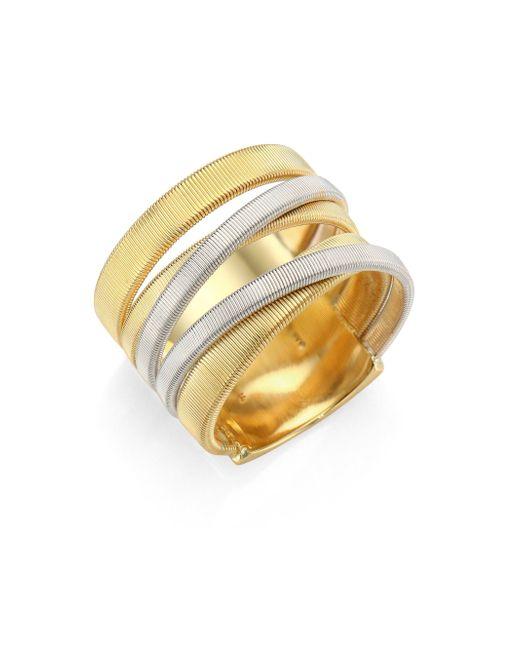 Marco Bicego   Metallic Masai 18k Yellow & White Gold Five-strand Ring   Lyst