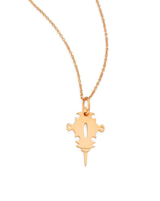Ginette NY | Metallic Mini Tanger 18k Rose Gold Pendant Necklace | Lyst