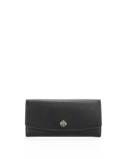 Tory Burch | Black Parker Leather Envelope Clutch | Lyst