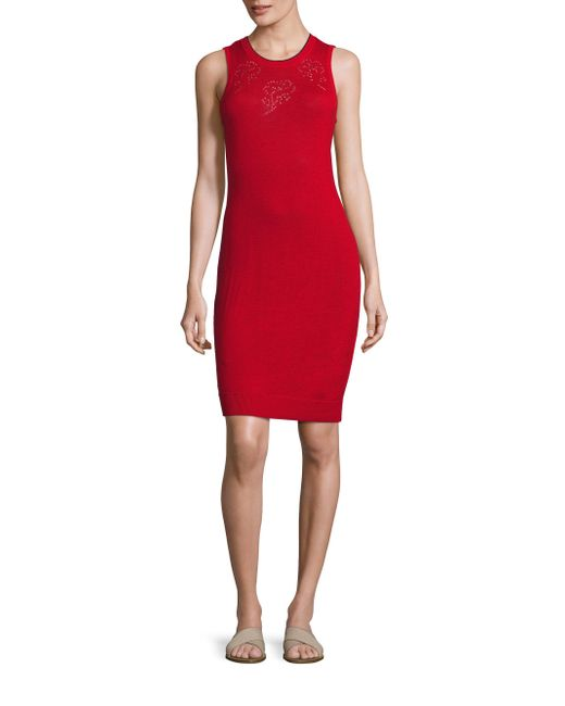 Rag & Bone | Red Adriana Pointelle-knit Dress | Lyst