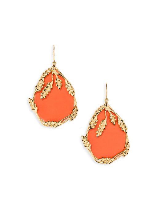 Aurelie Bidermann | Orange Francoise Coral Drop Earrings | Lyst