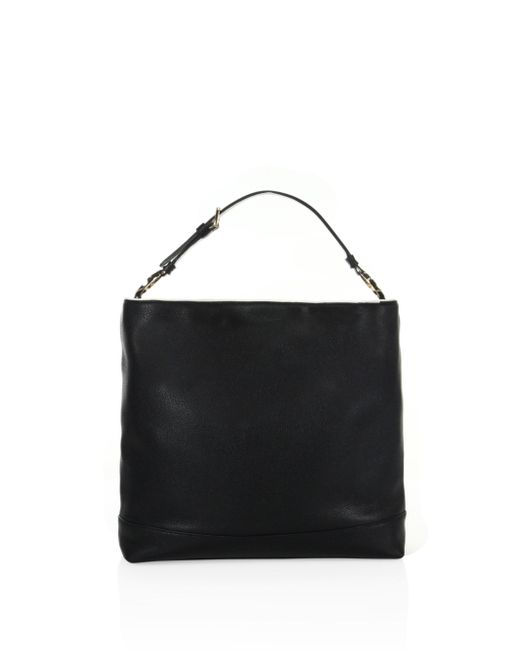 Tory Burch | Black Duet Hobo Leather Bag | Lyst