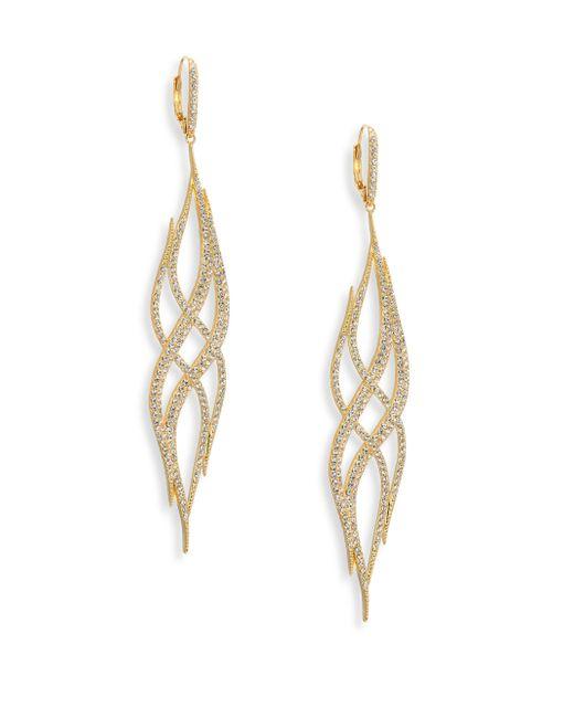 Adriana Orsini | Metallic Helix Crystal Drop Earrings | Lyst