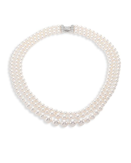 Adriana Orsini | Metallic Layered Faux-pearl Necklace | Lyst