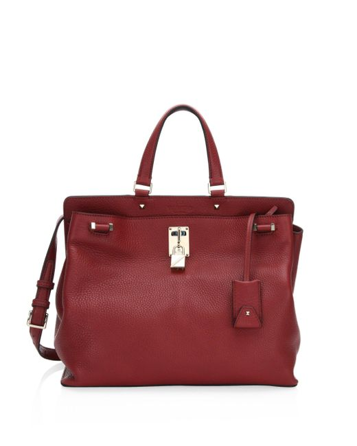 Valentino | Red Medium Piper Leather Top Handle Bag | Lyst