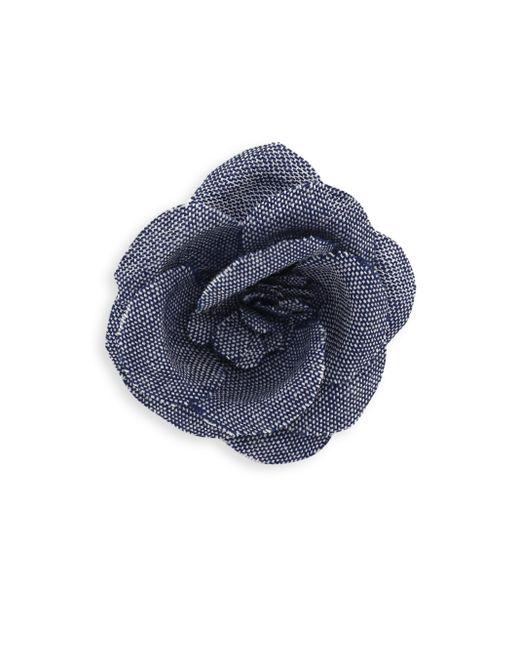 Hook + Albert | Blue Rose Tie Pin | Lyst