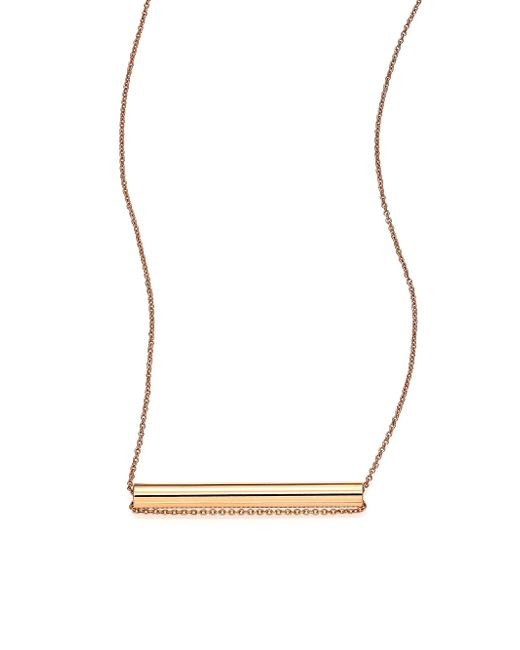 Ginette NY | Pink Straws 18k Rose Gold Pendant Necklace | Lyst