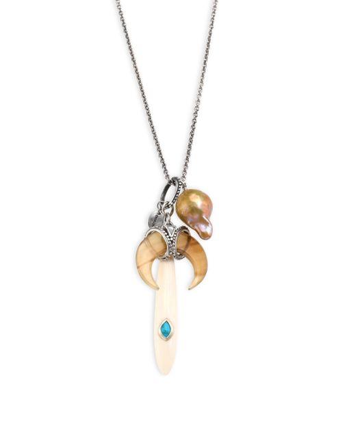 Chan Luu | Multicolor 13-15mm Pink Pearl & Semi-precious Multi-stone Pendant Necklace | Lyst